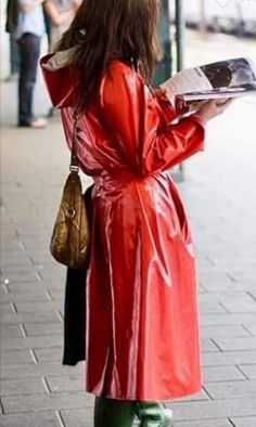 red raincoat and plaisir-bottes Baby Raincoat, Vinyl Raincoat, Plastic Raincoat, Yellow Raincoat, Hooded Raincoat, Pvc Coat, Raincoats For Women, Rain Wear, Women Wear