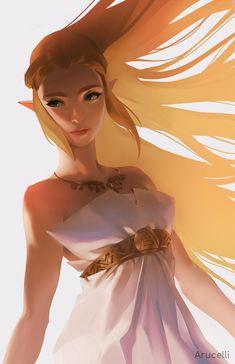 Zelda from Breath of the Wild, Knight Zhang Dark Princess, Cute Princess, Anime Princess, Twilight Princess, The Legend Of Zelda, Legend Of Zelda Breath, Legend Of Zelda Tattoos, Breath Of The Wild, Princess Zelda Costume