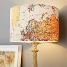 Fancy - Vintage Map Lampshade