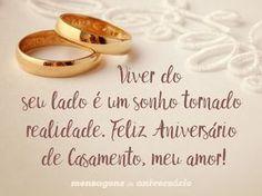 Viver do seu lado é um sonho tornado realidade. Feliz aniversário de Casamento, meu amor! (...) https://www.mensagemaniversario.com.br/o-casamento-dos-meus-sonhos/