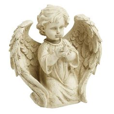 """One of my favorite discoveries at ChristmasTreeShops.com: 10"""" Kneeling Child Garden Angel with Bird"""