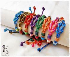 NAVY KNOTS. Pulseras de cuerda paracaídas con nudo náutico / Parachute cord bracelets with nautical knot