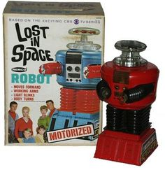 """Lost In Space Robot. """"Danger Will Robinson, danger! Space Tv, Lost In Space, 70s Toys, Retro Toys, Vintage Robots, Vintage Toys, Childhood Toys, Childhood Memories, Danger Will Robinson"""
