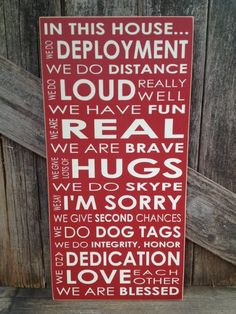 IN this House... We do DEPLOYMENT subway art home family military sign love Army Navy Air Force Marines patriotic america on Etsy, $28.00 by Esbech