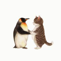 """냥송이 on Instagram: """"많이 덥지? 힘들겠다~ 여긴 춥지만...😊 #염장 #일러스트 #그림 #그림스타그램 #동물 #고양이 #애묘 #색연필 #스케치 #드로윙 #습작 #손그림 #illustration #art #illustrator #artist #draw #illust…"""" Illustrations And Posters, Crazy Cats, Cat Art, Mammals, Cat Lovers, Illustration Art, Kitty, Cartoon, Pets"""