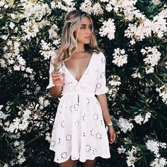 12 hot date night outfits your s o will love fashionclothing cute date night outfits for summer! date night outfit inspiration ideen herbst winter outfits lifestyle mode mode trend be bad streetstyle Cute Dresses, Casual Dresses, Cute Summer Dresses, Dresses Dresses, Stylish Dresses, Summer Clothes, White Eyelet Dress, White Lace, White Sundress Outfit