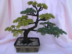 beaded wire tree | Bonsai Tree Wire Beaded Sculpture | Tree Of Life Crafts