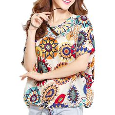 Sunflower Print Plus Size Tee, 66.7% discount @ PatPat Mom Baby Shopping App