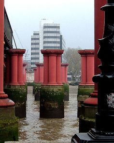 Pillars of Old Blackfriars Bridge by The Church Collector, via Flickr