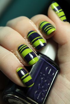 Caitlin'sCreativeCorner: Essie and Spoiled Stripes. Using striping tape.