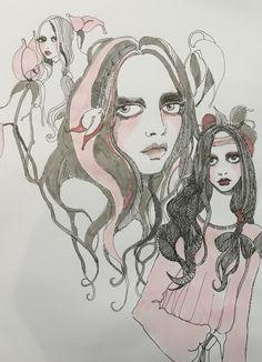 Bora Aksu Illustration SS17 pink story Part 2