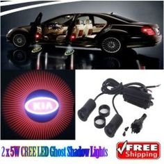 Generic 2 x 5W LED Car Ghost Shadow Lights Red For KIA K2 K3 K5 Forte Carens - product - Product Review