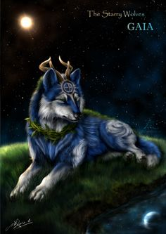 The Starry Wolves - Earth (Gaia) by NZwolf.deviantart.com on @deviantART