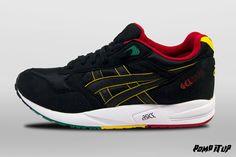 Asics Gel Saga (Black/Black) Sizes: 40.5 to 45.5 EUR Price: CHF 140.-  #Asics #GelSaga #RastaPack #BlackBlack #Sneakers #SneakersAddict #PompItUp #PompItUpShop #PompItUpCommunity #Switzerland Baskets, Chf, Asics, Saga, Switzerland, Sneakers, Shoes, Black, Tennis