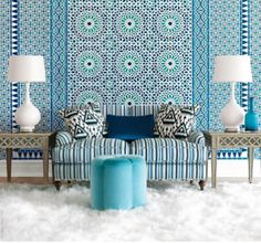 Schumacher's Byzantium collection inspired by mosaics from the grand palaces of Marrakesh, Istanbul's royal chambers and archways of Valencia