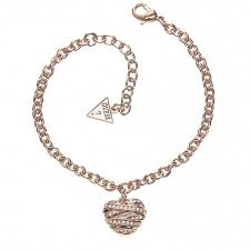 Guess Wrapped With Love Rose Plate Bracelet UBB21596-L Bangle Bracelets, Bangles, Fiorelli, Gold Necklace, Pendant Necklace, Love Rose, Jewels, Diamond, Silver