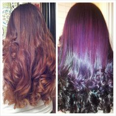 Wild orchid ombre Hair by cindy