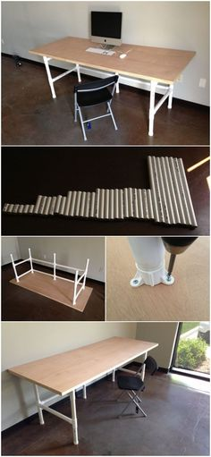 DIY PVC pipe projects that you can easily do – … – All For Garden Pipe Desk, Pipe Table, Pipe Lamp, Pvc Furniture, Diy Furniture Projects, Pvc Pipe Projects, Diy House Projects, Craft Projects, Pvc Pipe Sprinkler