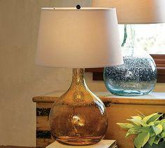 Eva Colored Glass Table Lamp #potterybarn