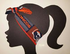 Broncos Headband NFL Accessory Tie head wrap Top Knot Headband Denver Broncos Team Fabric