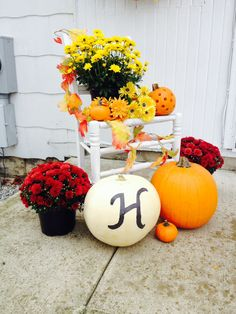 Fall outdoors decorations