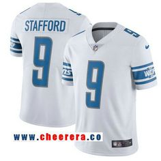 2c2644011eb Men s Detroit Lions  9 Matthew Stafford Nike White 2017 Limited Jersey