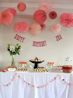 Happiness is Eva, Eva's Pretty in Pink 1st Birthday Party {the details}