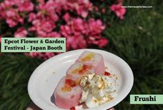 Epcot's Flower and Garden Festival Japan Outdoor Kitchen Food Booth Menus #EpcotinSpring #FlowerandGarden #wdw