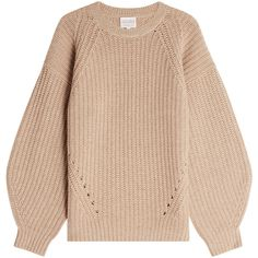 Claudia Schiffer Pullover (1.225 BRL) ❤ liked on Polyvore featuring tops, sweaters, camel, camel sweater, beige sweater, camel top, pullover sweater and beige pullover sweater