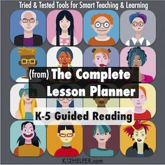FREE K-5 Guided Reading Lesson Plan Template for Google Drive.. w/ dropdown lists for Common Core Standards & Next Generation Science Standards.