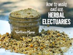 An herbal electuary is a natural remedy made with powdered herbs and honey (preferably raw, local or manuka). Kids love them!