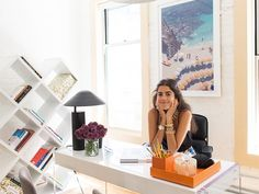 Desk. How a MAJOR Fashion Blogger Decorates Her Office via @MyDomaine