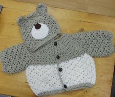 Crochet Teddy Set - Sooo cute! Crochet Teddy, Crochet Baby, Beautiful Crochet, Sheep, Hats, Fashion, Moda, Hat, La Mode