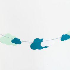 Girlande Wolken Kindergeburtstag Dekoration-1