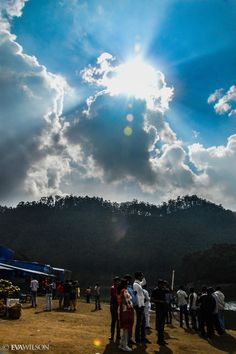 Dramatic Sun, Echo Point, Munnar, Kerala, India