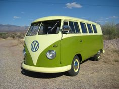 1960 VW Bus...oh man, I drove one for my aunt's daycare when I was only 16. A van FULL of kids and a 16 yr. old kid driving it with all those little ones. Too funny!