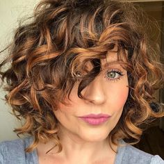 Short Layered Curly Hair With Bangs haar pony 30 Gorgeous Short Hairstyles for Curly Hair with Bangs Curly Hair Styles, Curly Hair With Bangs, Colored Curly Hair, Haircuts For Curly Hair, Curly Hair Cuts, Hairstyles With Bangs, Bob Haircuts, Elegant Hairstyles, Color For Curly Hair