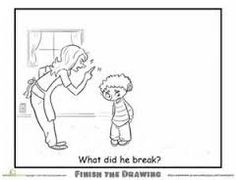 Finish the Drawing Who Would Wear These  Worksheets Drawings
