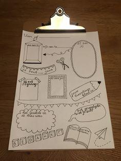 Vriendenboekje voor juf Make Me Happy, Illustrations Posters, Flask, Doodles, Scrapbook, Halloween, How To Make, Fun, Kids