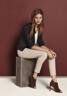 Equally polished with sandals (now) and booties (later): Ann Taylor's Cargo Skinny Jeans.