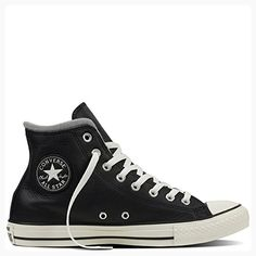 12c5565747 Converse Womens Chuck Taylor All Star Hi Top Black Leather Trainers 9 US  ( Partner