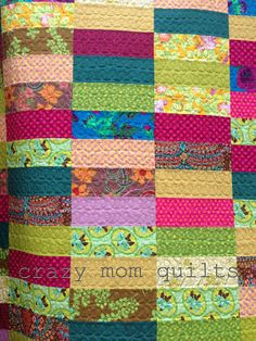 crazy mom quilts: bohemian garden quilt - fun simple quilting
