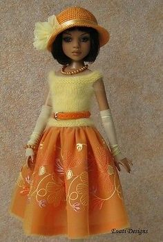 Evati OOAK Outfit for Ellowyne Wilde Amber Lizette Tonner 2 | eBay. Ends 6/18/14. Sold for $45.00.