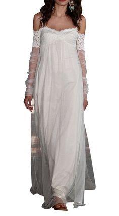 DAPENE® Women's New Off the Shoulder Strap Beach Long Prom Wedding Dress
