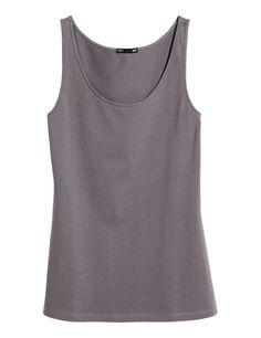 Dark grey tank top H&M