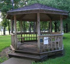 Outdoor Gazebo Made Out Of Tree Limbs