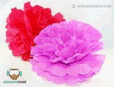 Hoje estaremos ensinando a vocêComo fazerpompons de papel de seda e pompons de papel crepomparadecorações de festas, festas juninas, aniversário, casam