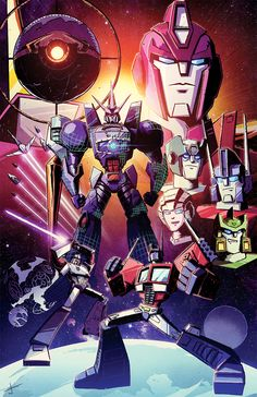"""Here is an RI cover I did for the 3rd ongoing series of Transformers """"Till All Are One"""" I had a lot of fun with it since it's drawing characters I don't get to draw often. Also I love drawing..."""