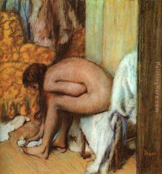 Edgar Degas - Woman Drying Her Feet