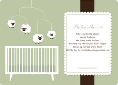 Perfect modern baby shower invites when the gender is a surprise.